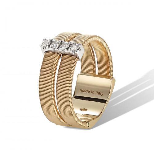 Marco Bicego Masai Ring Gold mit Diamanten 2 Stränge AG344 B YW