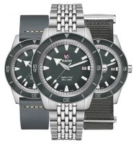 Rado Captain Cook Ghost Limited Edition Automatic XL 42mm Grau 3 Armbänder Set R32105103