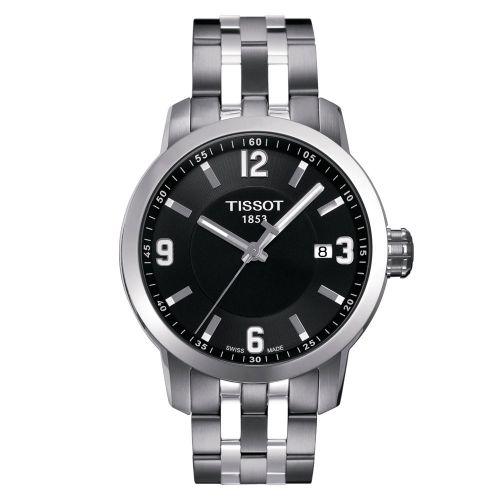 Tissot PRC 200 Herrenuhr 39mm Silber Schwarz Edelstahl-Armband Quarz T055.410.11.057.00