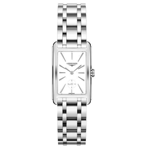 Longines DolceVita Silber mit weißem Zifferblatt & Edelstahl-Armband 37mm Quarz L5.512.4.11.6
