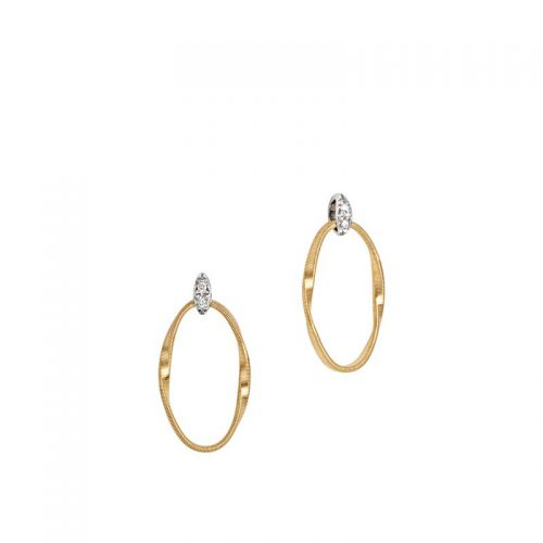 Marco Bicego Marrakech Onde Ohrringe Gold & Diamanten 1 Strang OG367-B