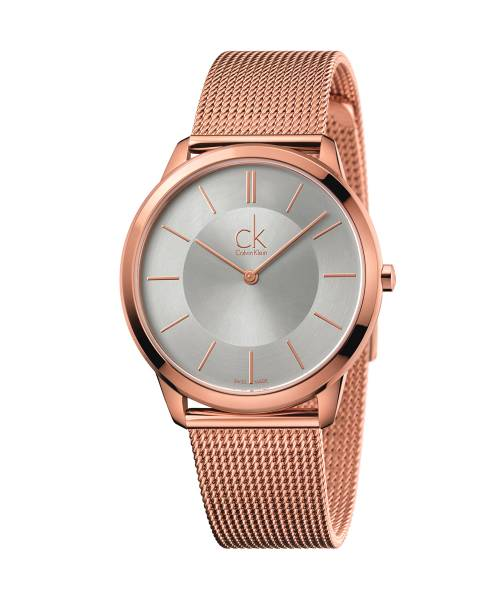 Calvin Klein Uhr Herren Rosegold Milanaise-Armband Quarz 40mm minimal K3M21626 | Uhren-Lounge