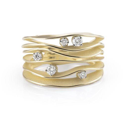 Annamaria Cammilli Dune Ring Gold mit Diamanten Sunrise GAN0914U | Uhren-Lounge