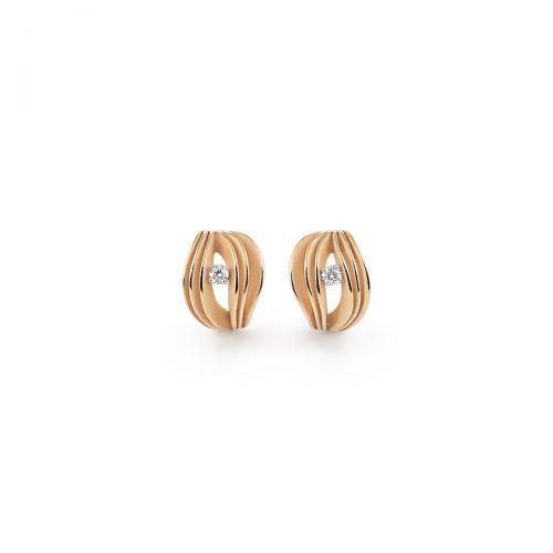 Annamaria Cammilli Velaa Star Ohrringe Orange Gold mit Diamanten Essential GOR3248J