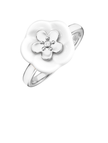 Meissen Porzellan Ring Weißgold mit Diamant MPJ10BL25700