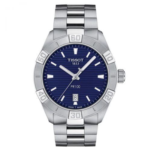 Tissot PR 100 Sport Gent Herrenuhr 42mm Blau Edelstahl-Armband Quarz T101.610.11.041.00