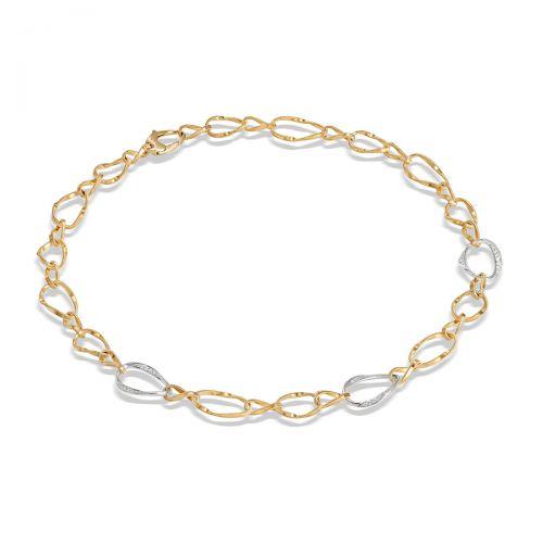 Marco Bicego Marrakech Onde Halskette Gold mit Diamanten 45 cm CG812 B YW