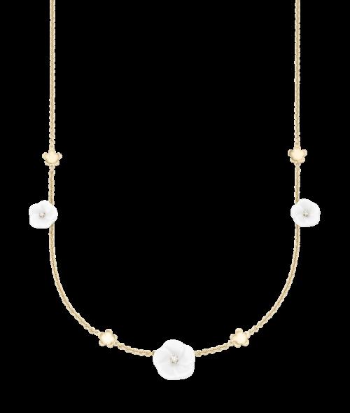 Meissen Collier Halskette Gold mit Porzellan und Diamanten 7 Blüten 1739 Royal Blossom MPJ20BL396C45