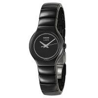 Rado True Jubile S Damenuhr mit Diamanten Schwarz Keramik Quarz R27655732 | Uhren-Lounge