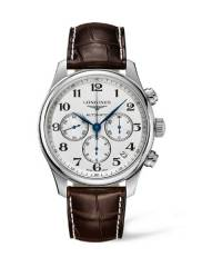 The Longines Master Collection 44mm Herren Automatikuhr mit Alligatorleder Armband L2.693.4.78.3