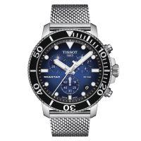 Tissot Seastar 1000 Chronograph Schwarz Blau 45mm Milanaise-Armband Quarz T120.417.11.041.02   Uhren-Lounge