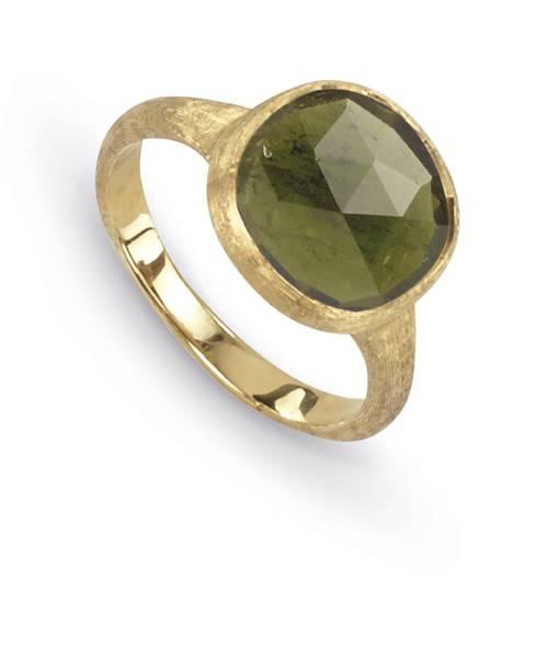 Marco Bicego Jaipur Ring Gold mit grünem Turmalin AB449 TV01