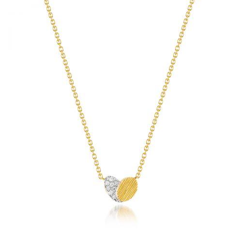 Luisa Rosas BE True Heart Halskette mit Anhänger Gold mit Diamanten Herz LRBE507