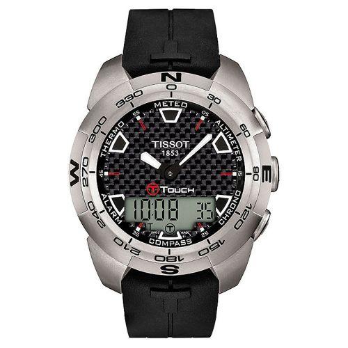 Tissot T-Touch Expert Titanium Herren Chronograph Quarz Digital Kautschuk-Armband T013.420.47.201.00