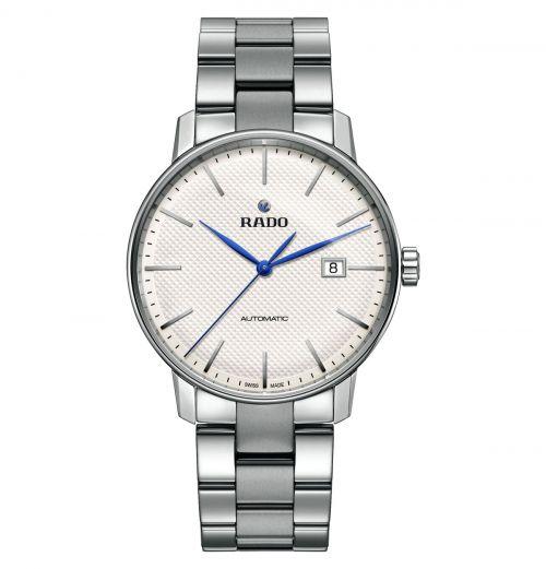 Rado Coupole Classic Automatic Herrenuhr 41mm Silbern Weiß Edelstahl-Armband R22876013