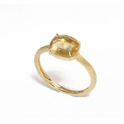 Marco Bicego Ring mit gelbem Citrin Edelstein Gold Murano AB553-QG01