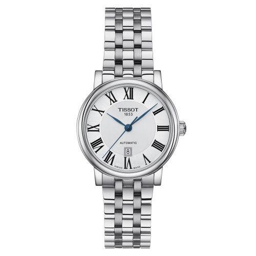 Tissot Carson Premium Automatic Lady Damenuhr Silber Edelstahl-Armband T122.207.11.033.00