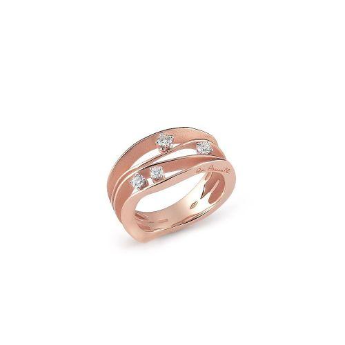 Annamaria Cammilli Ring mit Diamanten Rosegold Rosa Champagne Dune GAN0778P | Uhren-Lounge
