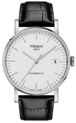 TISSOT 1853 Everytime SWISSMATIC 40mm Automatik Herrenuhr mit Lederarmband T109.407.16.031.00