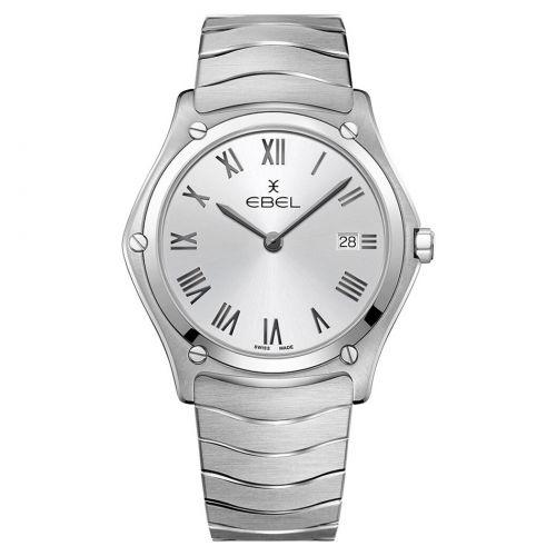 Ebel Sport Classic Gent Uhr Herren 40mm silber Edelstahl-Armband Quarz 1216455A | Uhren-Lounge