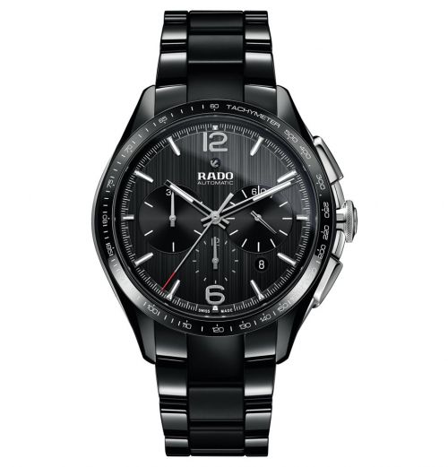 Rado HyperChrome Automatic Chronograph XXL Schwarz Keramik-Armband Herrenuhr 45mm R32121152 | Uhren-Lounge