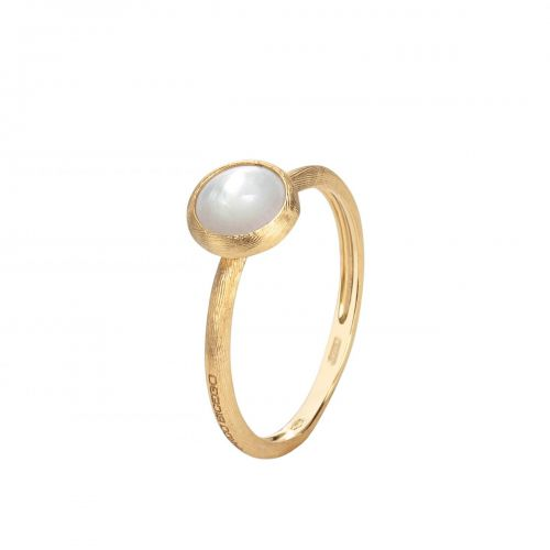 Marco Bicego Ring mit Perlmutt weiß Gold 18 Karat Jaipur Mini AB471 MPW Y