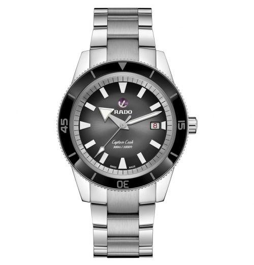 Rado Captain Cook Automatik 42mm Silber Schwarz Edelstahl-Armband Herrenuhr R32105153 | Uhren-Lounge