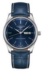 Longines Master Collection Jahreskalender Automatic 40mm Blau Leder-Armband L2.910.4.92.0 | Uhren-Lounge