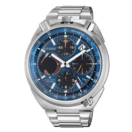 Citizen Promaster Land Eco Drive Herrenuhr 44mm Chronograph blau Edelstahl-Armband AV0070-57L günstig online kaufen | Uhren-Lounge