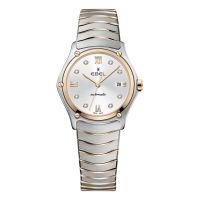 Ebel Sport Classic Lady Automatic Damenuhr Bicolor Rosegold Silber Zifferblatt mit Diamanten 1216429A   Uhren-Lounge