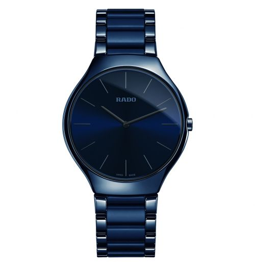 Rado True Thinline Blau Keramik Uhr Herren & Damen 39mm Quarz R27261202 | Uhren-Lounge
