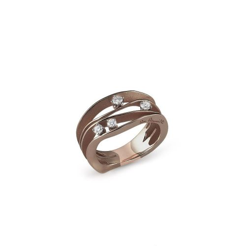 Annamaria Cammilli Ring Braun Gold mit Diamanten Brown Chocolate Dune GAN0778C | Uhren-Lounge