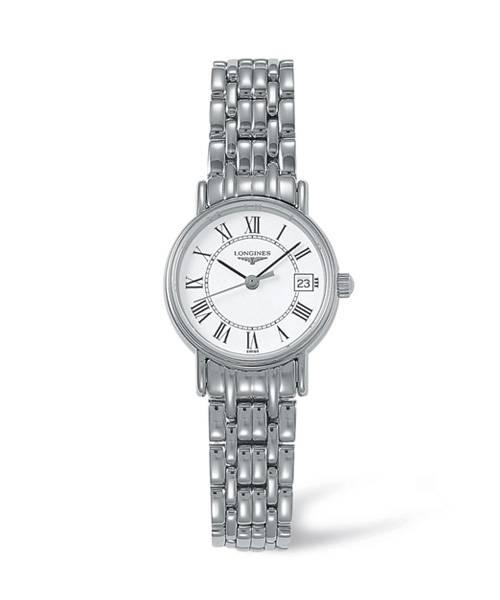Longines Presence Damenuhr Silber mit weißem Zifferblatt & Edelstahl-Armband 23,5 mm L4.319.4.11.6 | Uhren-Lounge