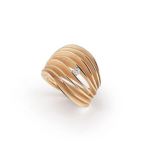 Annamaria Cammilli Velaa Ring mit Diamanten Orange Apricot Gold 18 Karat GAN3151J