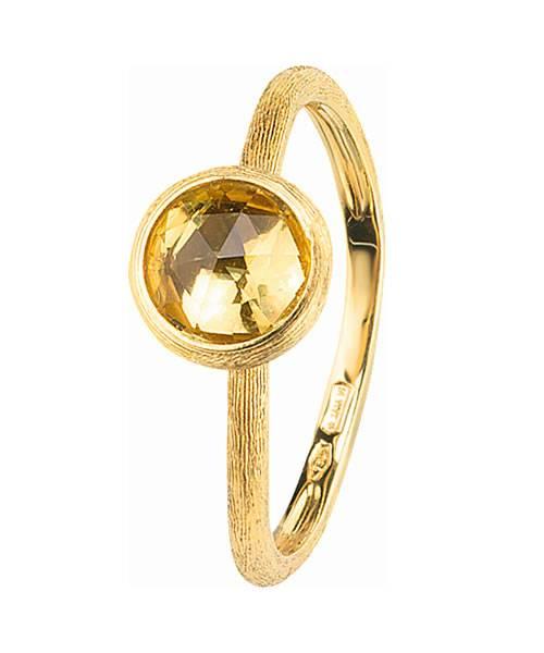 Marco Bicego Jaipur Ring mit gelbem Lemon Citrin Edelstein Gold 18 Karat AB471-LC01