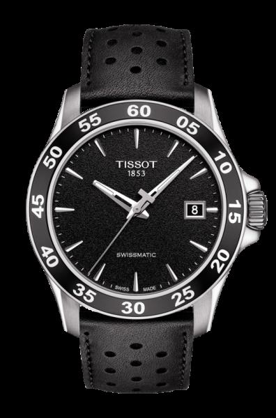 Tissot V8 Swissmatic Herren Automatic 42mm Schwarz Leder-Armband T106.407.16.051.00 | Uhren-Lounge