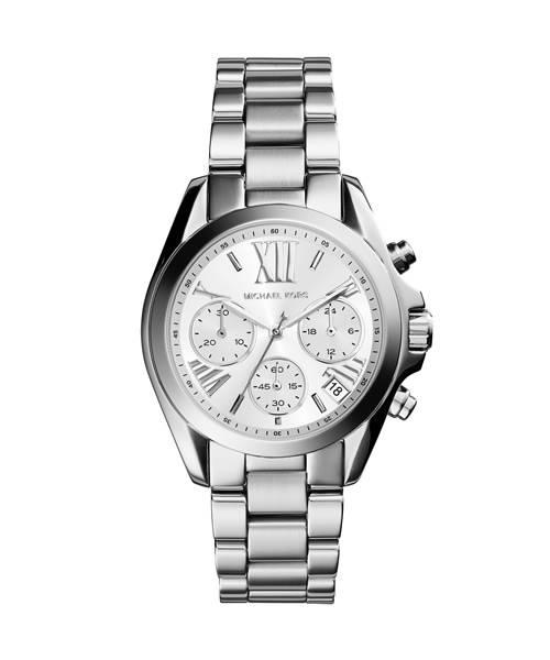 Michael Kors Uhr Damen Silber Chronograph Mini Bradshaw MK6174