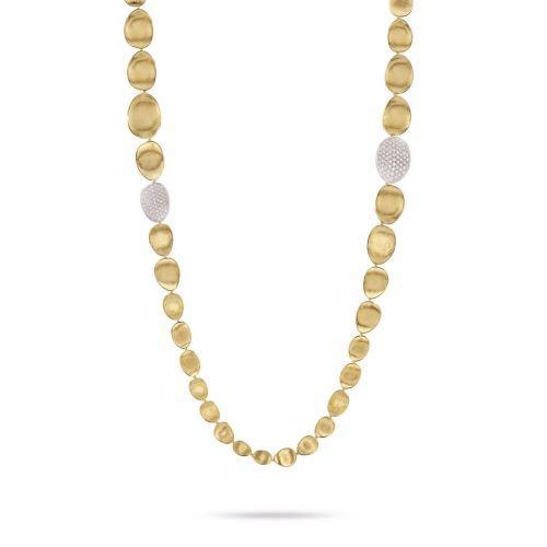 Marco Bicego Damen Halskette Diamond Lunaria 100cm aus Gelbgold mit 2,25 ct Diamanten CB1885 B YW