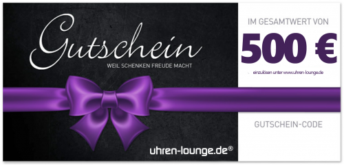 Geschenkgutschein 500 € für Uhren & Schmuck Geschenke | Uhren-Lounge