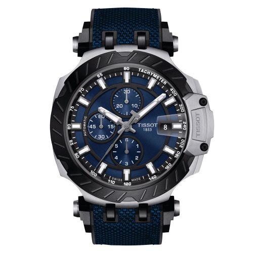 Tissot T-Race Automatic Chronograph Blau Kautschuk-Armband T-Sport Herrenuhr 45mm T115.427.27.041.00