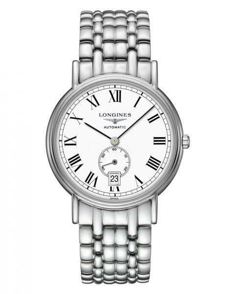 Longines Presence Automatic kleine Sekunde 38mm Silber Weiß Edelstahl-Armband L4.805.4.11.6 | Uhren-Lounge