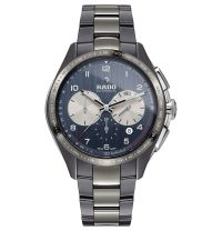 Rado HyperChrome Match Point Limited Edition Automatic Chronograph Grau Blau XXL 45mm Keramik R32022102 | Uhren-Lounge