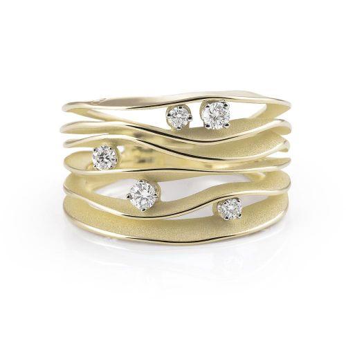 Annamaria Cammilli Dune Ring Gold mit Diamanten Lemon Bamboo GAN0914Y | Uhren-Lounge