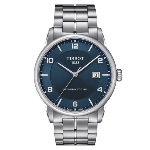 Tissot Luxury Powermatic 80 Automatic Gent Silber Blau Edelstahl-Armband 41mm T086.407.11.047.00 | Uhren-Lounge