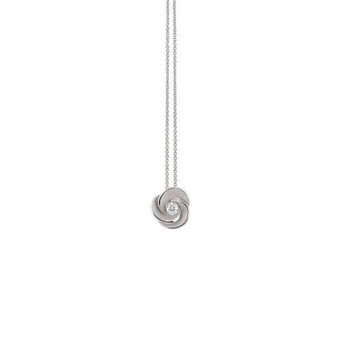 Annamaria Cammilli Anhänger & Halskette Desert Rose Weißgold mit Diamanten Essential GPE3234W