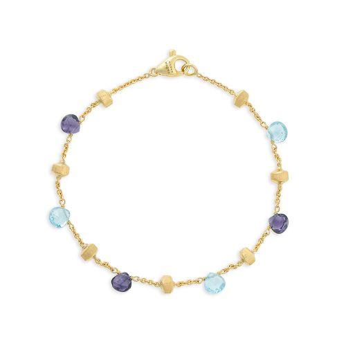 Marco Bicego Paradise Armband mit blauen Topas & Iolit Edelsteinen aus Gold BB765-MIX240-Y | Uhren-Lounge