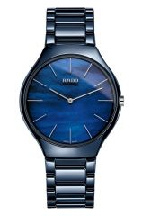 Rado True Thinline Water Blau 39mm Keramik Uhr Damen Quarz R27005902 | Sale | Uhren-Lounge
