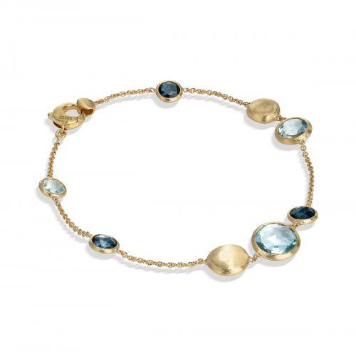 Marco Bicego Jaipur Armband mit blauen Topas Edelsteinen Gold BB1485 MIX725 Y