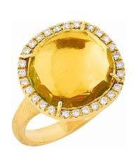 Marco Bicego Ring Gold  Citrin gelb mit Diamanten Jaipur AB450-B2-QG01   Schmuck Sale   Uhren-Lounge