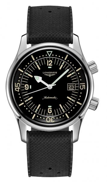 Longines Legend Diver Automatic 42mm Kautschuk-Armband Schwarz L3.774.4.50.9   Uhren-Lounge